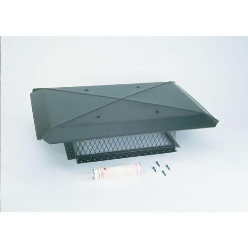 Gelco 13510 14 Inch x 14 Inch Model A Gelco Black Multi-flue Chimney Cap 18-ga. 8 Inch High 3/4 Inch Mesh 24-ga Lid