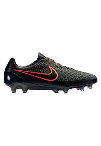 Nike Magista Opus FG Botas de fútbol de entrenamiento, Hombre Negro
