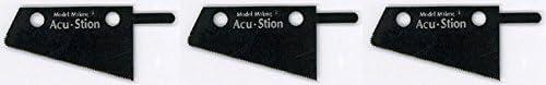 【Acu・Stion/アクステオン】1/1 マイクロ バリオ ソー 斜め セット 交換ブレード 0.05mm 3枚入り