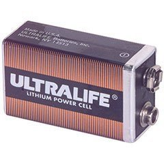 Ultralife 9V Lithium Battery U9VL-J Aluminum Housing