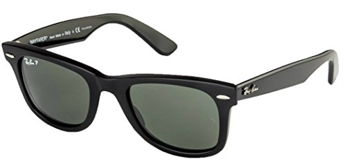 Ray-Ban Polarized Classic Wayfarers RB 2140 901/58 50mm +SD Glasses+Cleaning - Ray 2140 50 Ban