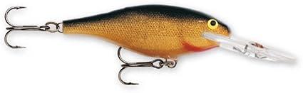 "Rapala Shad Rap 08 SR08-G Gold 3 1//8/"" 3//8 oz Bass Crankbait Fishing Lure"