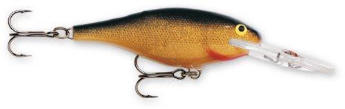 Rapala Shad Rap 4 Fishing Lure, Gold, 1-1/2-Inch