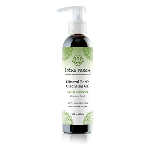 Lotus Moon Mineral Earth Cleansing Gel - Sulfate-free Black Soap facial wash Ideal for Oily and Acne Skin Types