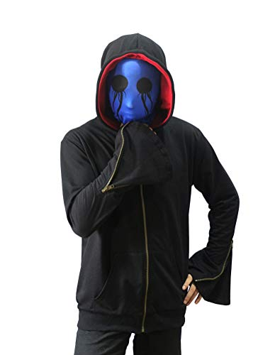 Cosplay Eyeless Jack Hoodie Mens Thicken Pullover Jacket Sweater Cosplay Costume (M, Jack)