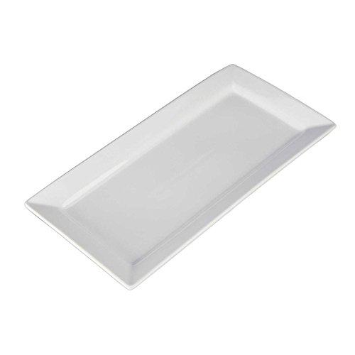 - Bia Cordon Bleu 18-Inch Rectangular Platter White Porcelain