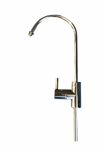 FA878-CP Stainless Steel Drinking Water Faucet with Chrome Plated Finish for Undersink Water Filter, Water Purifier, Reverse Osmosis (RO) System, Fit 1/4