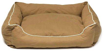 Dog Gone Smart Lounger Bed, M, Khaki, My Pet Supplies