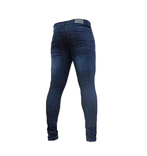 Elasticizzati Slim Stretch Aderenti Pantaloni Dritti Uomo Estilo Dunkelblau Especial Basic Jeans a8qwSBRxR