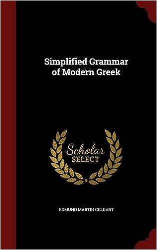 Book Simplified Grammar of Modern Greek