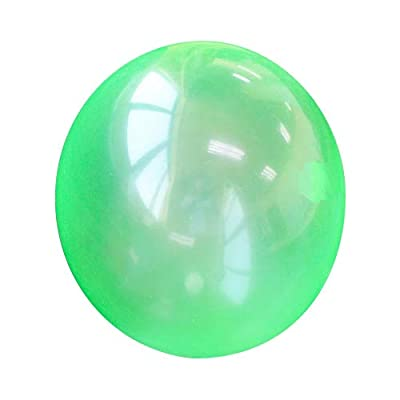 Jelly Color Inflatable Bubble Balloon Ball Beach Balls Fun Balloon Balls Cool Party Favor/Gift for Kids Outdoor Play Toy - 1PC Green: Beauty