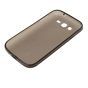 NEW Soft Gel Dustproof Dull Polish Transparent Back Case for Samsung Galaxy I9082 , Red