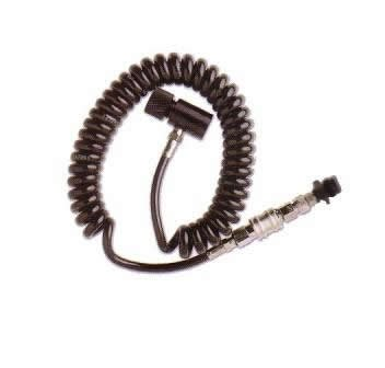 WaveToGo Coil Remote Hose Line w/ Qd & Slide Check (Paintball Remote Coil)
