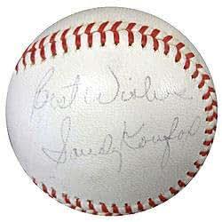 Sandy Koufax Signed National League Baseball Los Angeles