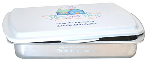 Personalized 9x13 inch Engraved Cake Pan and Colored Lid - Closing Gift