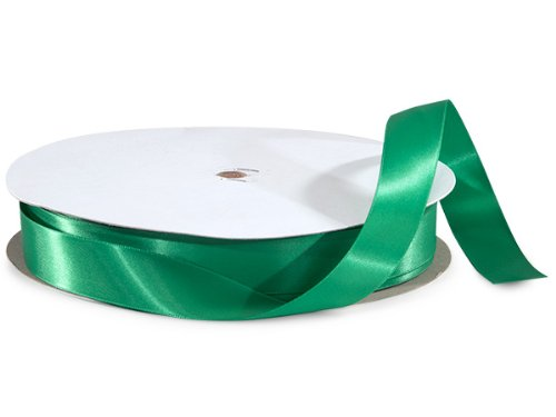 Emerald Double Faced Satin Ribbon 7/8''x100 Yds 100% Polyester (2 Spools) - WRAPS-DFS5580 by Miller Supply Inc