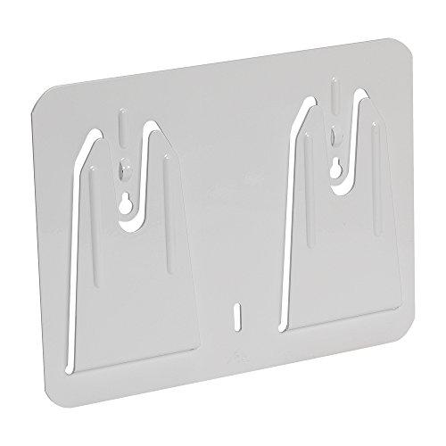 White Rag Boxed (Georgia-Pacific Multiplate 50313 White Metal Wall Mount Boxed Wiper Dispenser, 8.875