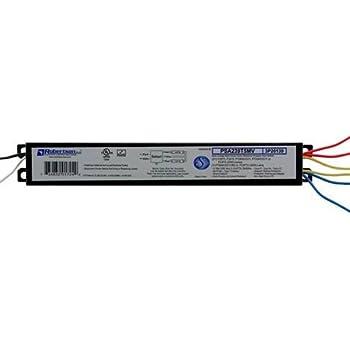 robertson fluorescent eballast(s) for 2 f28t5 linear lamps, program start,  120-277vac, 50-60hz, normal ballast factor, hpf, (successor to model  psa228t5mv