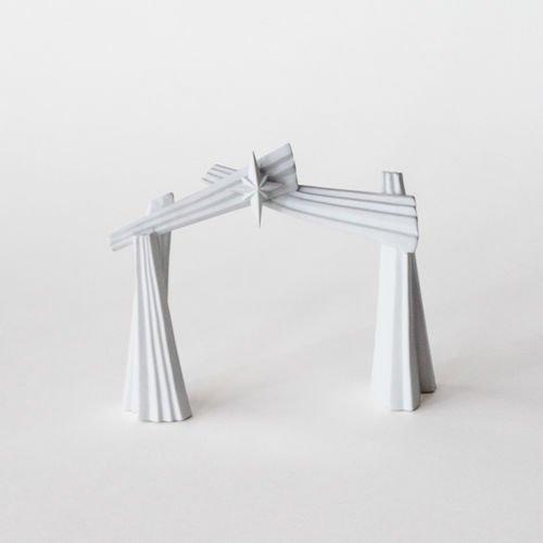 Porcelain Origami Nativity Set Backdrop