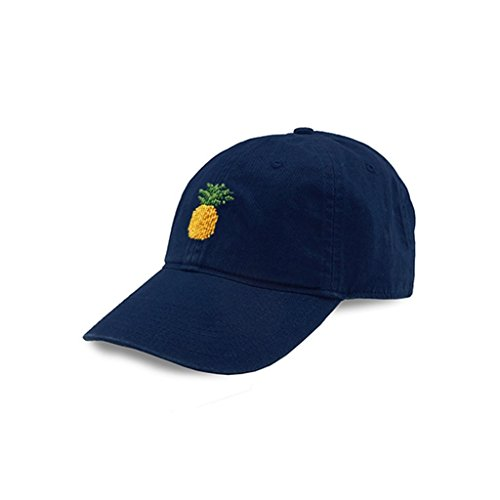 Pineapple Needlepoint Hat in Navy by Smathers & ()