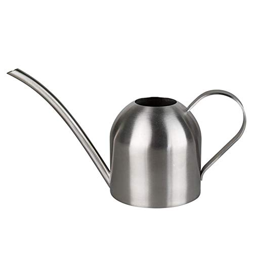 Hamkaw Office Watering Can, Ultra-Thin Modern Style Brushed Stainless Steel Watering Can Pot,500ml/17OZ House Plant Watering Can with Comfort Handle,Long Spout,Strong Body for in/Outdoor