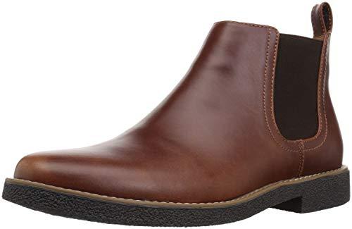 Deer Stags Men's Rockland Memory Foam Dress Casual Comfort Chelsea Boot, Redwood/Dark Brown, 12 Medium US ()