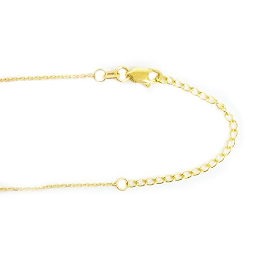 14K Yellow Gold Sideways Cross Necklace Adjustable Chain 16-18 Inches by Ritastephens (Image #2)