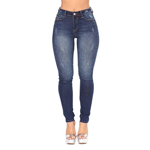 OMyAngel Women's Sexy High Waisted Skinny Stretchy Jeans Denim Pants (Plus Size Dressing Up)