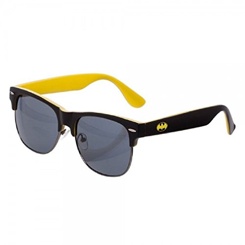 DC COMICS Batman Logo Half Frame Sunglasses w/ Case