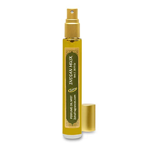 Indian Musk Perfume Oil Mist (No Alcohol) aka Majmua Fragrance Oil - Essential Oils and Perfumes for Women and Men by Zoha Fragrances, 9 ml / 0.30 fl Oz