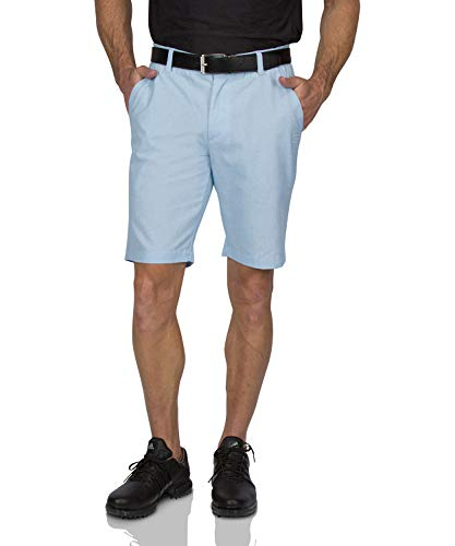 (Dry Fit Golf Shorts for Men - Tapered Slim Fit Chinos - Mens Shorts Athletic Classic Blue)