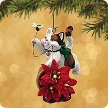 Hallmark 2002 MISCHIEVOUS KITTENS Ornament #4 in Series - CALICO CAT CHASING BUMBLEBEE
