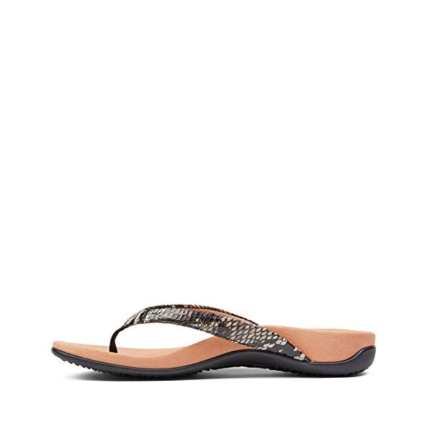 Vionic Women's Rest Dillon Toe Post Walking Sandals - Ladies Flip Flop with Concealed Orthotic Arch Support