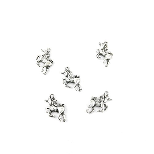 10 Pieces Jewelry Making Charms WEUA05 Unicorn Pendant Ancient Silver Findings Craft Supplies Bulk Lots (Unicorn Charms)