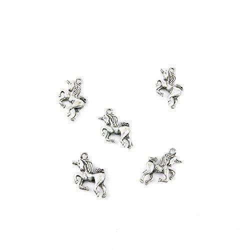 10 Pieces Jewelry Making Charms WEUA05 Unicorn Pendant Ancie
