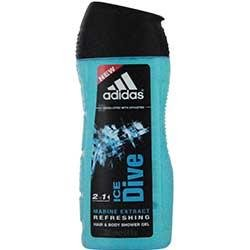 (ADIDAS ICE DIVE by Adidas HAIR & BODY WASH 8.4 OZ (DEVELOPED WITH ATHLETES) 100% Authentic )