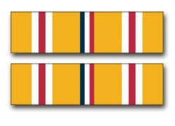 United States Army Asiatic - Pacific Campaign Medal Ribbon Decal Sticker 5.5
