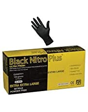 Ultra Fresh Black Nitro Plus Nitrile 300mm Disposable Heavy Duty Fully Textured Powder Free Glove