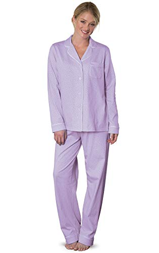 PajamaGram Petite Pajamas Sets for Women - Petite Womens PJs, Lavender, XL, 18 (Personalized Christmas Pajamas)