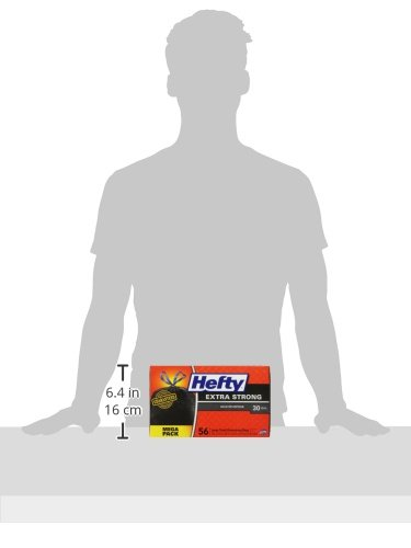 Hefty Strong Large Trash Bags (Multipurpose, Unscented, Drawstring, 30 Gallon, 56 Count) - Packaging May Vary by Hefty (Image #6)'