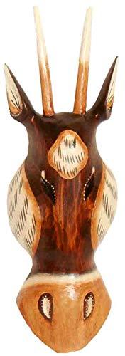 Masque antilope 30 cm, masque en bois de Bali, masque mural