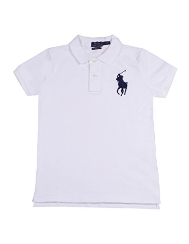 Polo Ralph Lauren Womens Skinny Big Pony Polo (L, White)