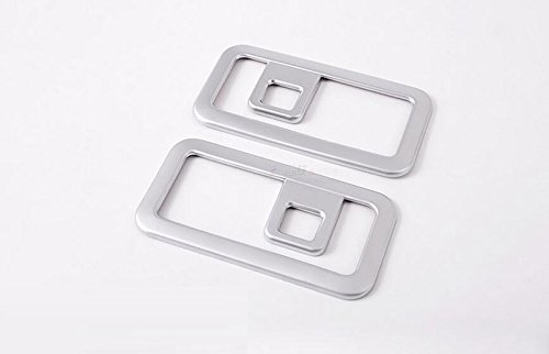 Herben For Jaguar F-Pace f pace X761 Car-Styling ABS Chrome Rear Trunk Storage Box Hook Frame Cover Trim Accessories Set of 2pcs by Herben