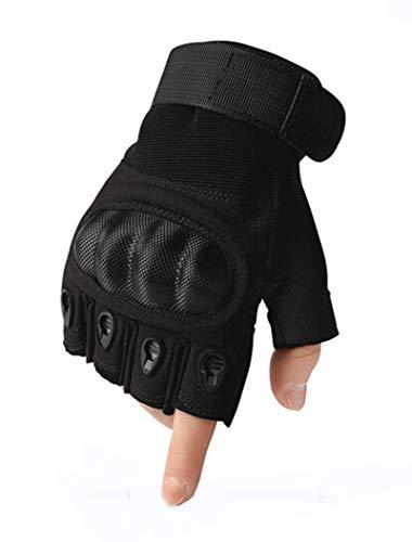 Protection traspirante Non sdrucciolevole Amdxd Movement Equestrian Outdoor Nero Mezza Guanti Women Finger xqqwa1Z0P