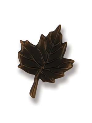 Maple Leaf Doorbell Ringer - Oiled Bronze (Leaf Doorbell Ringer)