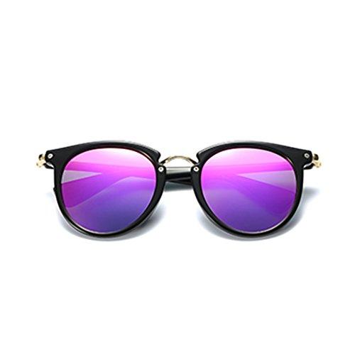 YUBIN Sunglasses Female Tide Personality Round Frame Sunglasses Men Celebrity The Same Paragraph Polarized Light Glasses (Color : B) (Celebrity Sonnenbrillen Frauen)