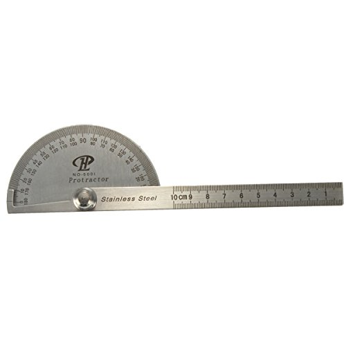 less Steel 0-180 Protractor Angle Finder Arm Rule Measure Ruler (Protractor Metal)