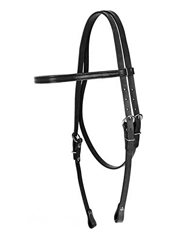 Fabtron Leather Browband Headstall Black