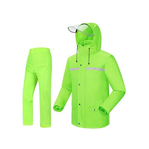 Vert fluorescent XL WSWJJXB Pantalon de Pluie imperméable Costume imperméable de Mode Split imperméable Poncho, adapté pour Le Camping Voyage Escalade en Montagne