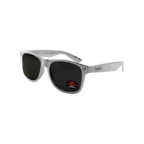 Wayfarer Sunglasses for Men, Women & Kids by Ray Solée- 3 Pack of Tinted Lenses with UVA & UVB Protection (Red,Blue,Silver, Black) by Ray Solée (Image #4)